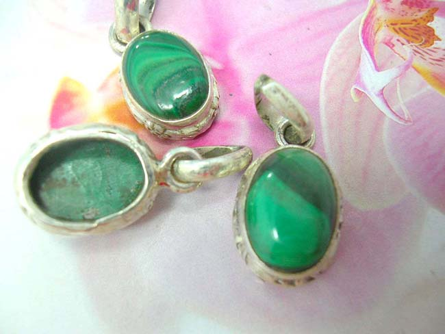 Import accessory manufacturing agent, Jade semi precious stone pendant in crafted 925. sterling silver frame
