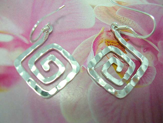 TRendy online jewelry shop, Handcrafted spiral fashion earrings, made from 925. sterling silver