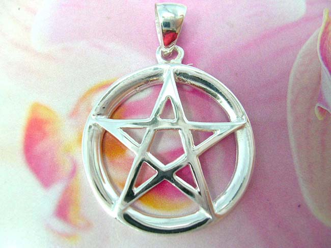 Jewellery distributor business, Unique sterling silver pendant in pentagram design
