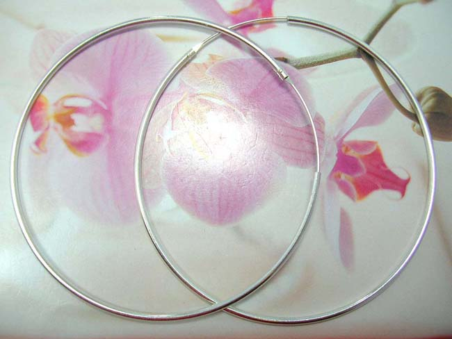 Jewelry online, bali gift supplier. Large balinese hoop earrings, made from 925. sterling silver