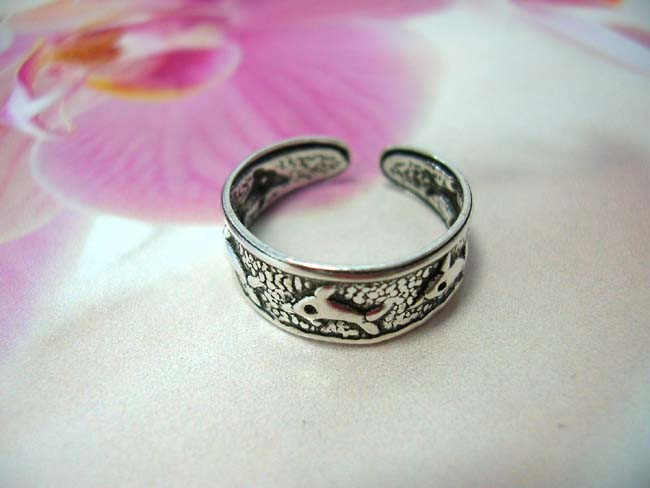 Bali jewelry wholesale supplier, Ocean dolphin lovers toering made from 925. sterling silver